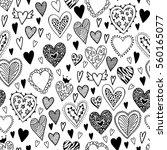 valentine's seamless pattern... | Shutterstock . vector #560165077