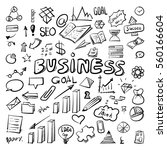 business idea doodles clip art... | Shutterstock .eps vector #560166604