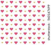 vector valentines day seamless...   Shutterstock .eps vector #560167699