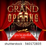 grand opening invitation card... | Shutterstock .eps vector #560172835
