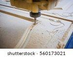 machine working cnc | Shutterstock . vector #560173021