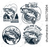 vintage bass fishing emblems...