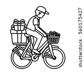 delivery worker service icon | Shutterstock .eps vector #560175427
