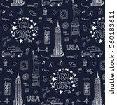 new york city pattern. | Shutterstock .eps vector #560183611
