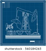 oil pump silhouette on... | Shutterstock .eps vector #560184265
