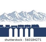 freight train on bridge over... | Shutterstock .eps vector #560184271