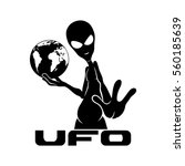 alien sign. | Shutterstock .eps vector #560185639