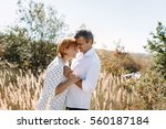 couple middle age years in... | Shutterstock . vector #560187184