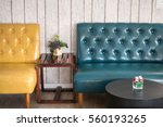 yellow and blue vintage chair | Shutterstock . vector #560193265
