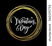 premium gold valentine day... | Shutterstock .eps vector #560195755