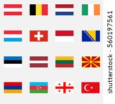 flags of countries  georgia ...   Shutterstock .eps vector #560197561