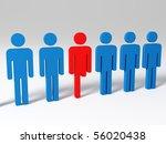 handicap man in a row with... | Shutterstock . vector #56020438