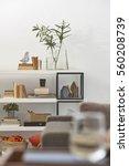 modern office room detail... | Shutterstock . vector #560208739