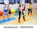fitness class dancing in studio