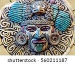 maya aztec style stone statue... | Shutterstock . vector #560211187