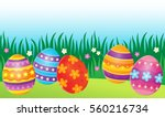 decorated easter eggs theme... | Shutterstock .eps vector #560216734