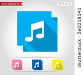 colored icon or button of music ... | Shutterstock .eps vector #560218141