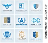 logo collection set law lawyer... | Shutterstock .eps vector #560225419