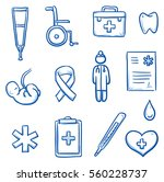 set of different medical icons... | Shutterstock .eps vector #560228737
