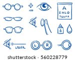 set of different optometry... | Shutterstock .eps vector #560228779