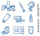set of different medical icons  ... | Shutterstock .eps vector #560228797