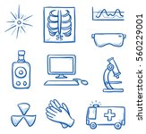 set of different medical... | Shutterstock .eps vector #560229001