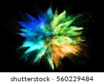 explosion of colored powder ... | Shutterstock . vector #560229484