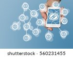 blockchain and bitcoin concept... | Shutterstock . vector #560231455