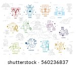 zodiac and greek mythology  ... | Shutterstock .eps vector #560236837