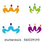 three people wave logo element. ... | Shutterstock .eps vector #560239195