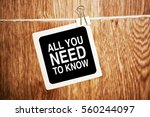 all you need to know motivation ... | Shutterstock . vector #560244097