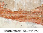 Background Of Crack Brick Wall...