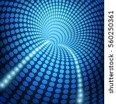 3d circle futuristic tunnel in...   Shutterstock .eps vector #560250361