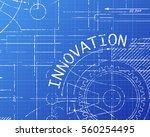innovation word on machine... | Shutterstock .eps vector #560254495
