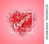 valentine's day card. confetti... | Shutterstock .eps vector #560260114