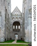 Small photo of Abbey of Jumieges, Ruins of Abbey from 654, Normandy, France.