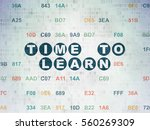 time concept  painted blue text ... | Shutterstock . vector #560269309