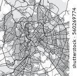 black   white map of rome italy.... | Shutterstock . vector #560269774