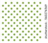 Green Polka Dots Background