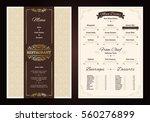 restaurant menu vintage design... | Shutterstock .eps vector #560276899