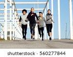 outdoor portrait of group of...   Shutterstock . vector #560277844