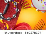 carnaval background with space... | Shutterstock . vector #560278174