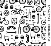seamless pattern of bicycle... | Shutterstock .eps vector #560279101