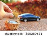 car model and financial... | Shutterstock . vector #560280631
