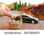 car model and financial... | Shutterstock . vector #560280655