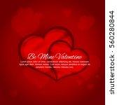 valentines day vector  | Shutterstock .eps vector #560280844
