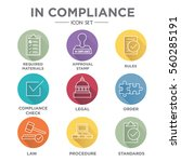 in compliance icon set  ... | Shutterstock .eps vector #560285191