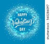 premium valentine hearts... | Shutterstock .eps vector #560286097