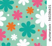 seamless floral background.... | Shutterstock .eps vector #560286631