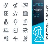 lineo   science and laboratory... | Shutterstock .eps vector #560289544
